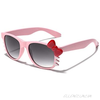 Hello Kitty Women Girls Fashion Sunglasses with Bow Tie and Whiskers