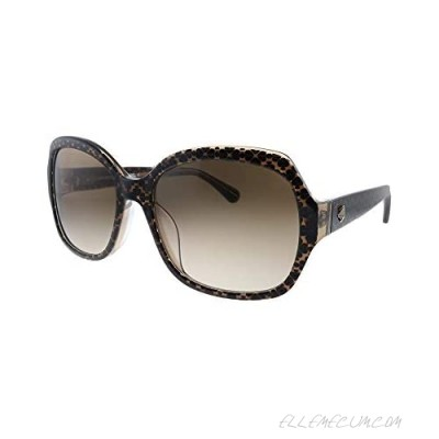 Kate Spade New York Women's Amberlynn/S Square Sunglasses Crystal Brown/Brown Gradient 57mm 18mm