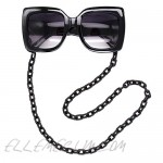 Obmyec Black Sunglasses Chain Punk Eyeglass Chain Acrylic Chunky Reading Glass Chain for Women and Men