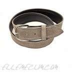 Suede Belt - Genuine Suede 1.5 inch Wide Belt for Men and Women Synthetic Leather with Rounded Buckle - Made in USA
