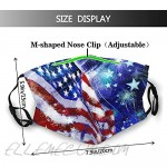 American Independence Day Independence Day Face Mask Balaclava Bandanas Reusable Fabric Mask With 2 Filter
