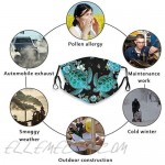 gmani Sea Turtles Face Mask Scarf Breathable Reusable Washable Bandana with 2 Filters for Men Women Adults