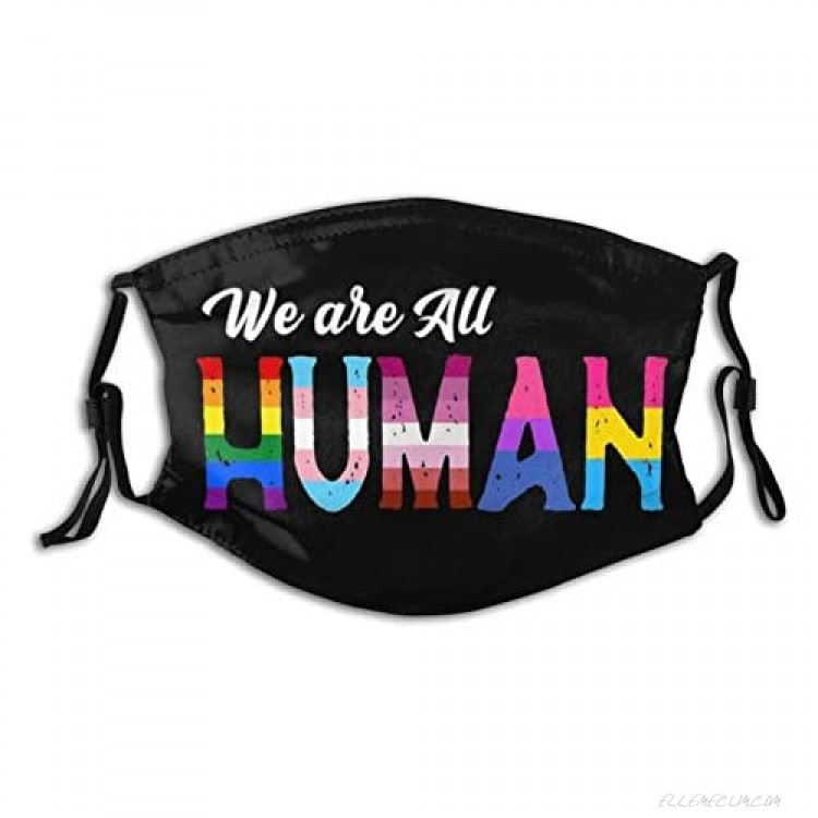 Love Wins Pride Lgbtq-Face Mask Favorite Lgbt Pride Balaclava ,Pollen-Proof Reusable Mask With Pocket & 2 Filters