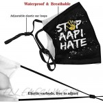 Reusable Cloth Face Mask With Filter Pocket And Nose Wire Fashion Design Balaclava Washable With 2 Filters