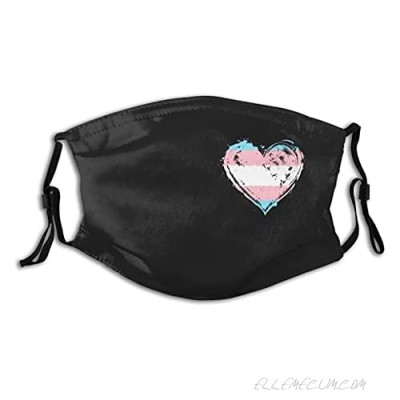 Transgender Pride Face Mask Scarf Washable Reusable Mask Mouth Cover With 2 Filters Gift For Adult