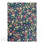 Wyoming Traders Wild Rag Silk Calico Teal Flower Scarf 34.5 in by 34.5 in square