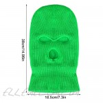 3 Pieces 3-Hole Knitted Full Face Cover Adult Balaclava Warm Knit Ski Face Cover Thermal Knitted Head Wrap for Men Women