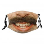 Borat Adults Fashion Washable Dust and Windproof Mask Reusable Face Cover Adjustable Ear Straps Black