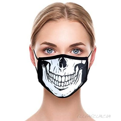 Odd Masks Unisex Graphic Scary Faces Designer Face Mask Reusable Breathable Fashion