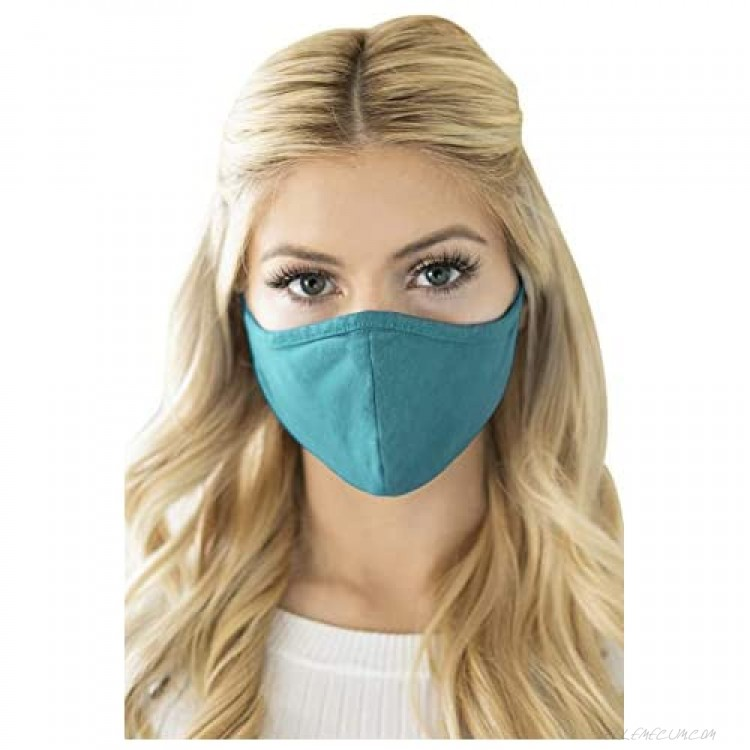 Reusable Fabric Face Mask Covering Unisex - Washable Cloth Breathable Mouth Protection Adjustable Neck Strap