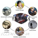 The Falcon and The Winter Soldier Face Cover Anti Haze with 6 Filters Adjustable Reusable Washable Bandana