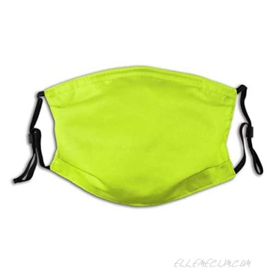 Unisex Multi Usage Face Cover Up Bright Green Lime Neon Color Reusable Cloth Mask