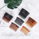 12 Pieces French Hair Side Combs Plastic Twist Hair Comb Hair Accessories with 17 Teeth Hair Clip Combs for Women Girls (4 Colors)