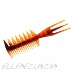 3 Pieces Fish Comb 3 In 1 Double Side Fish Tail Bone Shape Plastic Comb Hair Pick Comb Tool Structure Super Styler Tool Comb for Hair Coloring Highlighting Balayage Microbraiding
