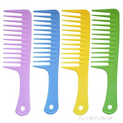 4 Pcs Wide Tooth Comb Detangling Hair Brush Wide Comb Detangler Comb Curl Comb Best Styling Comb for Long Wet or Curly Hair Improve Blood Circulation