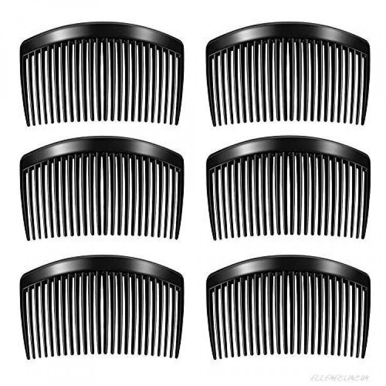 6 Pieces Plastic Side Hair Twist Comb French Twist Comb Hair Clips with Teeth for (23 Teeth)…