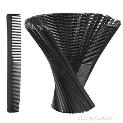 Hestya Hair Comb Pocket Size Unbreakable Plastic Hairdressing Styling Combs for Salon or Hotel Hair Care Black(36 Pack 17.5 cm)