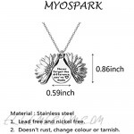MYOSPARK Never Forget The Difference You've Made Sunflower Locket Necklace Appreciation Gifts for Colleague Best Friends