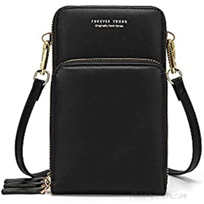 Lightweight Crossbody Phone Bag for Women Small Shoulder Bag Cell Phone Wallet Purses and Handbags with 14 Credit Card Slots
